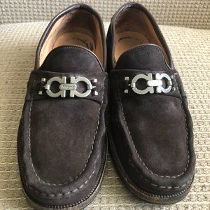 Salvatore Ferragamo Men's Brown Suede Loafers